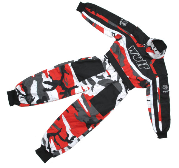 Wulfsport Cub Racing Suit – Red Camo