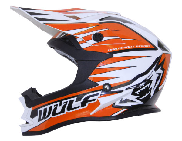 Wulfsport Cub Advance Helmet - Orange
