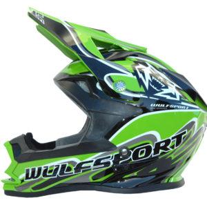 Wulfsport Cub K2 Helmet- Green