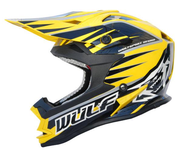 Wulfsport Cub Advance Helmet – Yellow