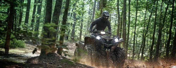 yamaha grizzly in action