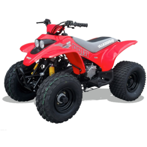 r100 kids quad red