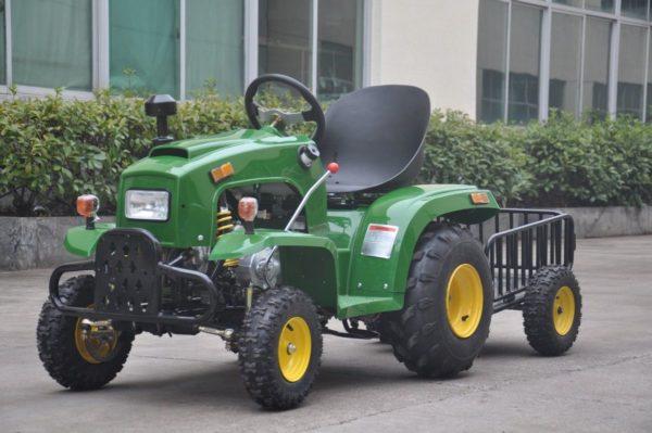 motoroma atv mini tractor green
